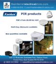 Kanlux ALER JQ-30-W IP44 White PIR Motion Sensor 165/90 1kw 10m Indoor/Outdoor